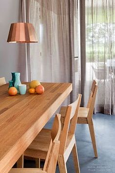 Simple wooden kitchen table and chairs