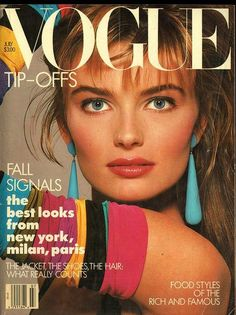 Vogue August 1987, Model: Paulina Porizokva