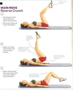 The Get-Your-Body-Back Workout: Reverse Crunch (2-3 sets of 10-12 reps)