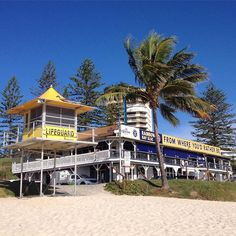 The iconic number one life guard tower on the Gold Coast and she sits on my fave beaches along our golden shores - Snapper Rocks and Rainbow Bay in Coolangatta GC Australia.  by whatkylielikes
