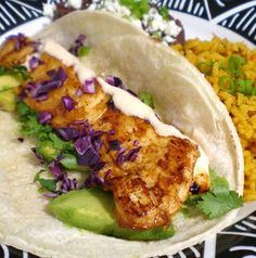 Baja Chipotle Fish Tacos from Food.com:   								Marinated cod, cabbage, and zesty white sauce lend authentic Baja flavors to these easy to make tacos. This recipe was posted by a popular seasoning company and adapted from a cooking websites newsletter. Included in the 2006 Zaar World Tour - Mexico.