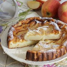 Latte 50 g Sweet Recipes, Cake Recipes, Dessert Recipes, Desserts, Riccota Cheese Recipes, Apple Deserts, Fairy Food, Ricotta Cake, Apples And Cheese