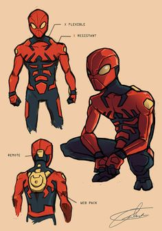 Spider-Man costume redesign By John Murray