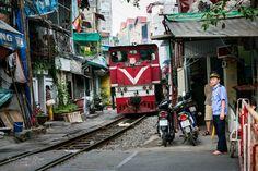 On the Tracks in Hanoi, Vietnam ~ Susan Crichton-Stuart
