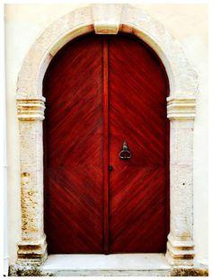 Villa Euphoria, Rethymno, Crete, Front Door www.villa-crete.gr