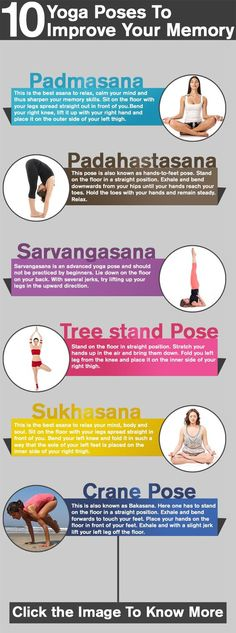 Yoga Poses To Improve Your Memory Top 10 Yoga Poses To Improve Your Memory : Here are some yoga for memory poses that will help.Top 10 Yoga Poses To Improve Your Memory : Here are some yoga for memory poses that will help. Pranayama, Yoga Meditation, Yoga Flow, Yoga Inspiration, Yoga Fitness, Fitness Jokes, Fitness Band, Fitness Classes, Fitness Nutrition