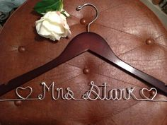 Bridal wedding hanger Personalized  hanger wire by HighendHangers, $24.99