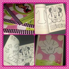 Custom Minnie Mouse Coloring Books Party Favors