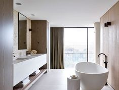 New bath room vanity luxury bath design Ideas Modern Contemporary Bathrooms, Modern Bathroom, Modern Faucets, Large Bathrooms, Small Bathroom, Luxury Bathrooms, Luxury Bathtub, White Bathrooms, Rustic Bathrooms