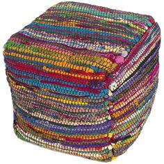 Jaipur Bali BLP01 Multi Handmade Silk Pouf