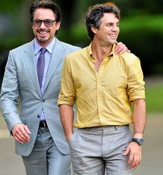 Two beautiful men - Robert Downey Jr and Mark Ruffalo