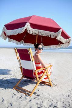 Hotel del Coronado Beach Umbrellas