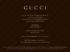 gucci invites  presentation    beauty gucci and fall, party invitations