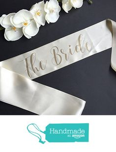 The Bride Bachelorette Party Sash from White Rabbits Design https://www.amazon.com/dp/B01MRLTYG2/ref=hnd_sw_r_pi_dp_U8UlybZK07AZ3 #handmadeatamazon