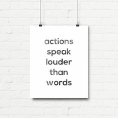 Printable Art Typography Poster Actions by curlybracketdesign