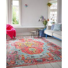 Schlafzimmer Im Shabby Look amazon de neuer teppich im angesagten shabby chic look für