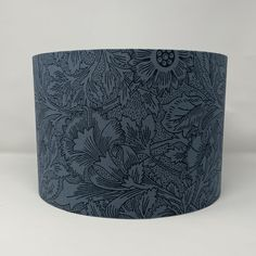 What's hot this week in my #etsy shop? William Morris Poppy Drum #Lampshade in Navy #midcentury #williammorris British Standards, William Morris, Drums, Fabric Design, Poppies, Printing On Fabric, Bulb, Navy, Pattern