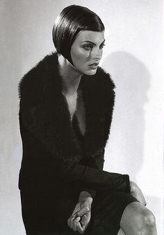 Dolce & Gabbana: Fall/Winter Collection 1995-1996  Model: Linda Evangelista  Photography: Steven Meisel