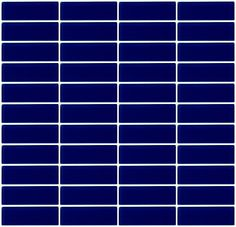 1x3 inch navy blue glass subway tile stacked