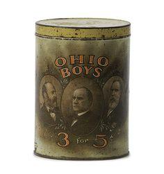 Ohio Boys Cigar Advertising Tin