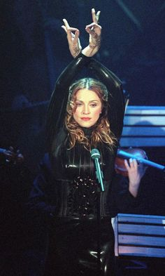 Strike A Pose: Madonna Does What She Does Best On Stage At The San Remo Pop Festival In Italy, 1998