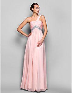 a-line/princess jedno rameno podlahy Délka šifónové večerní / plesové šaty