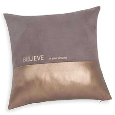BELIEVE brown/gold cushion cover 40 x 40 cm
