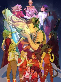 Catradora ~ She-ra princess of power ⛮ season 5 Anime Wolf, Anime Outfits, Power Wallpaper, She Ra Princess Of Power, Fandoms, Fanart, Owl House, Dreamworks, Geek Stuff