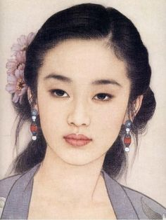 Portraits by Zhao Guojing and Wang Meifang Portrait Paintings, Portrait Art, Chinese Painting, Chinese Art, Art Asiatique, Art Japonais, Beauty Art, Woman Painting, Face Art