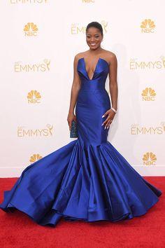 All the Looks from the Emmy's 2014 Red Carpet - Elle  Keke Palmer  Love Dress: Rubin Singer Jewelry: Chopard Shoes: Christian Louboutin Clutch: Swarovski