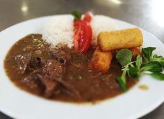 Denné menu Vranov |  Restovaná bravčová pečeň, 1/2 ryža, 1/2 zemiakové krokety - reštaurácia Hotel Patriot*** #hotel #restaurant #food