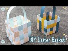 (95) How To Make An Easter Basket 🐰 - YouTube