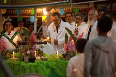 In this June 2016 photo, Godfather Alfredo Gregorio, center, leads a religious service in the church of doctrine of the Holy Daime, in Ceu do… Brazil Amazon, Garden Online, The Godfather, Psychedelic, Worship, Spirituality, Lifestyle, June 22, Beautiful Things