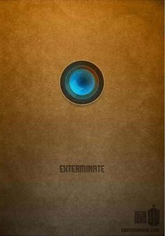daleks - karma orange's minimalist doctor who poster Only for a whovian