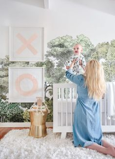 Forest wallpaper  ($59, rebelwalls.com) in Emily Henderson's Stylish Nursery