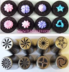 8 Russian One Step Piping Nozzle Flower XXL Tips