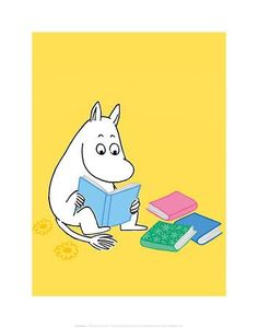 Moomintroll with his Head in a Book Art Print by Tove Jansson at Art.co.uk