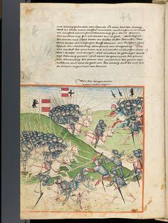 Bern, Burgerbibliothek, Mss.h.h.I.1, f. 282 – Diebold Schilling, Amtliche Berner Chronik, vol. 1