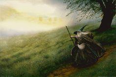 john howe   John Howe - Gandalf approche de Minas Tirith.jpg