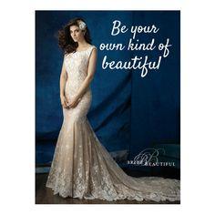 We think every bride should be unique. We over 400 gowns in store to choose from you can find your wedding gown here!  Like this Allure Bridal lace fit and flare...WOW!