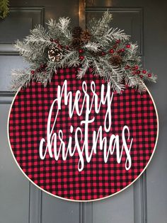 Excited to share this item from my shop: Christmas Wreath Hoop Wreath Holiday Wreath Buffalo Plaid Christmas Wreath for front door Burlap Wreath Hoop Wreath Wreath for Front Travel Travel Travel Trip Travel Travel Large Christmas Wreath, Christmas Wreaths For Front Door, Plaid Christmas, Christmas Balls, Holiday Wreaths, Rustic Christmas, Christmas Ornaments, Holiday Decor, Merry Christmas