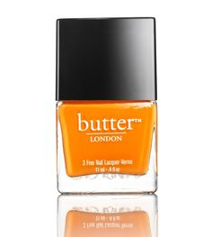 Our favorite nail colors from Pantone spring 2015 colors: Tangerine | Butter London in Silly Billy