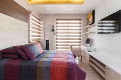 Just like the son's bedroom, the guest bedroom also has a special corner for working or studying. For a sophisticated look, this particular space also has the samecove and recessed lighting. Modern Bungalow House Design, Modern Room Design, Simple House Design, Modern House Philippines, Modern Family, Home And Family, Architectural House Plans, Dream House Interior, Small House Plans