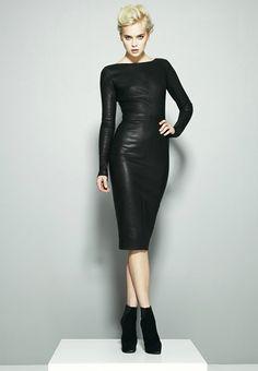 Robert Rodriguez Leather Dress