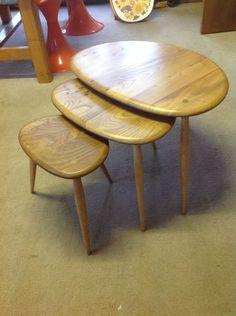 Beautiful nest of original Ercol tables// Vintage Tweaks Ebay Store