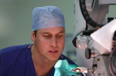 Prince William observed some surgical procedures during his visit to the Royal Marsden Hospital 7 Nov 2013