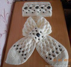 fanatica del tejido: Cinta para la cabeza y una bufanda