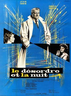 """Gilles Grangier's """"The Night Affair"""" French Film Poster"""