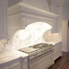 Calacatta Marble Countertops, French, kitchen, Bradford Designs