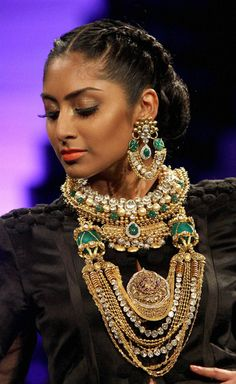lots of indian necklaces